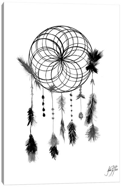Dark Midnight Dream Catcher II Canvas Art Print