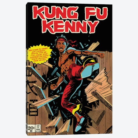 Kung Fu Kenny Canvas Print #DRD103} by Ads Libitum Canvas Print