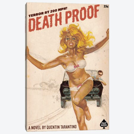 Deathproof Canvas Print #DRD21} by Ads Libitum Canvas Art Print