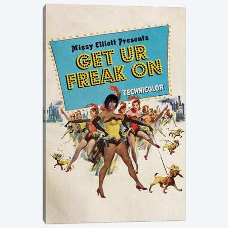 Get Ur Freak On Canvas Print #DRD29} by Ads Libitum Canvas Print