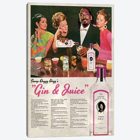 Gin & Juice Canvas Print #DRD31} by David Redon Canvas Art