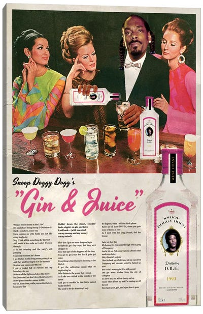 Gin & Juice Canvas Art Print