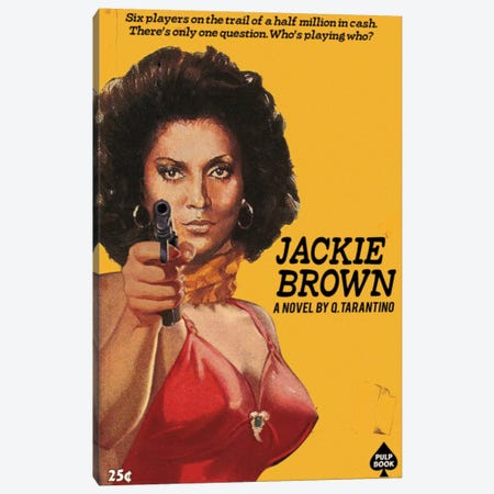 Jackie Brown Canvas Print #DRD45} by Ads Libitum Canvas Wall Art