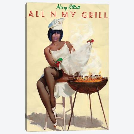 Missy Elliott Canvas Print #DRD56} by Ads Libitum Canvas Print