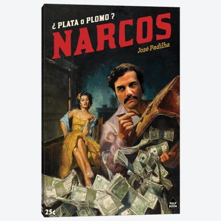 Narcos 3-Piece Canvas #DRD59} by David Redon Canvas Artwork