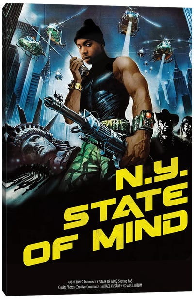 Nyc State Of Mind Canvas Art Print