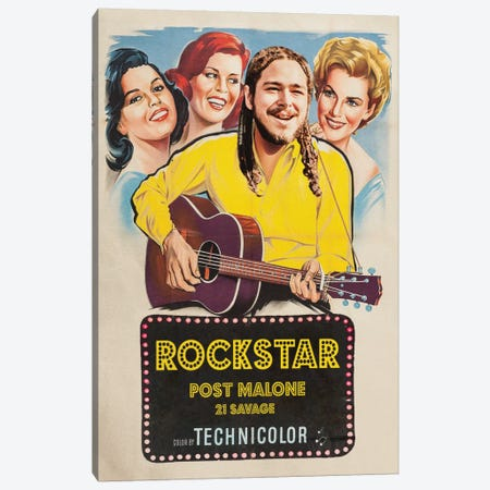 Rockstar Canvas Print #DRD70} by David Redon Canvas Art