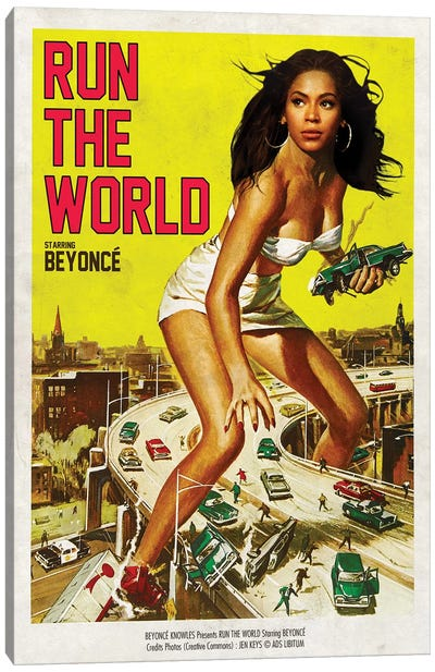 Run The World Canvas Art Print