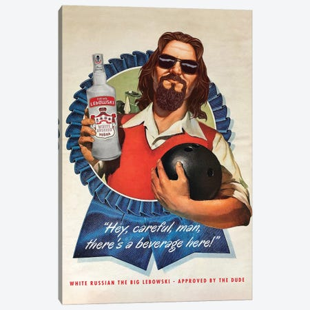 The Dude Canvas Print #DRD82} by David Redon Canvas Print