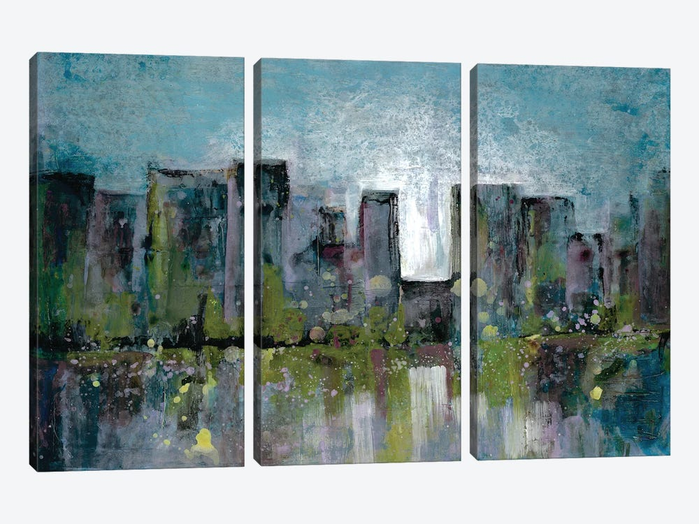 City Glow by Doris Charest 3-piece Canvas Artwork