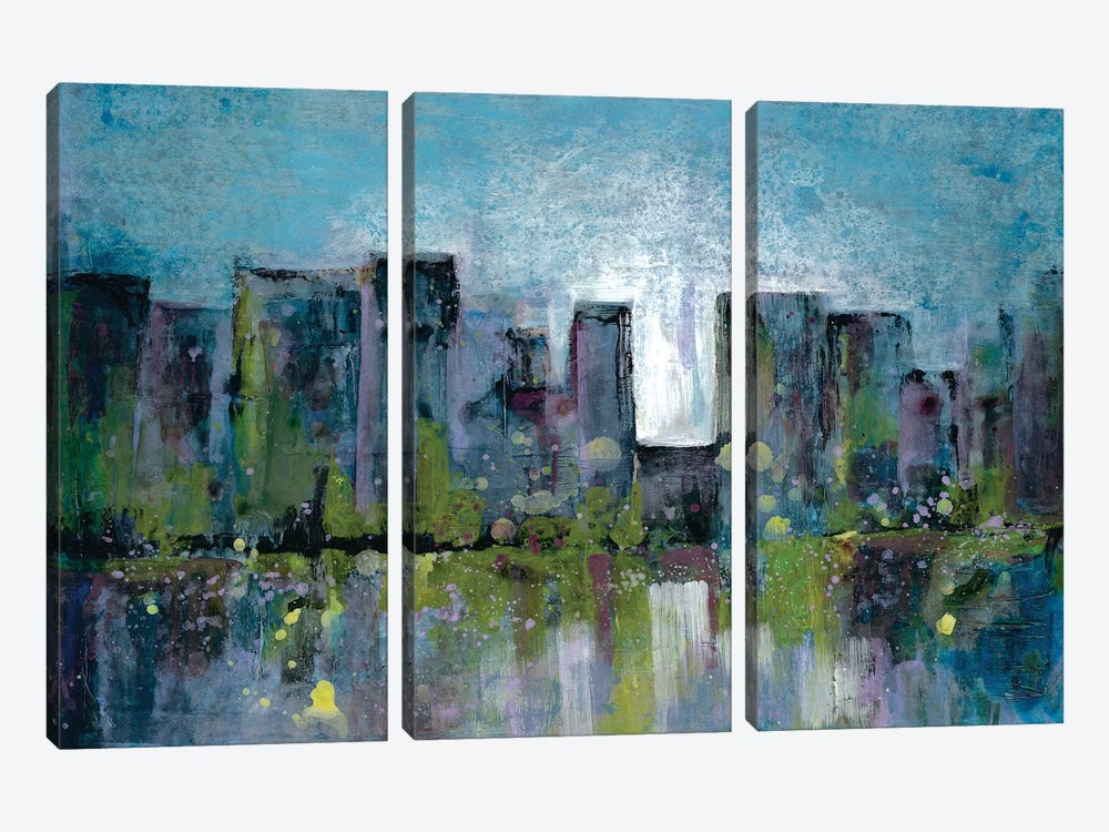 City Nights II by Doris Charest 3-piece Canvas Wall Art