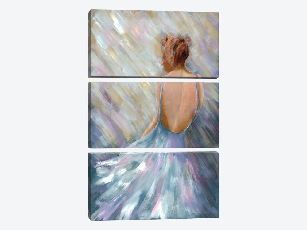 Dancing Queen I by Doris Charest 3-piece Canvas Print
