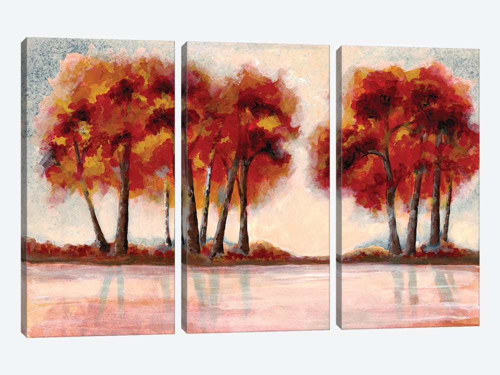 Fall Foliage II by Doris Charest 3-piece Canvas Art Print