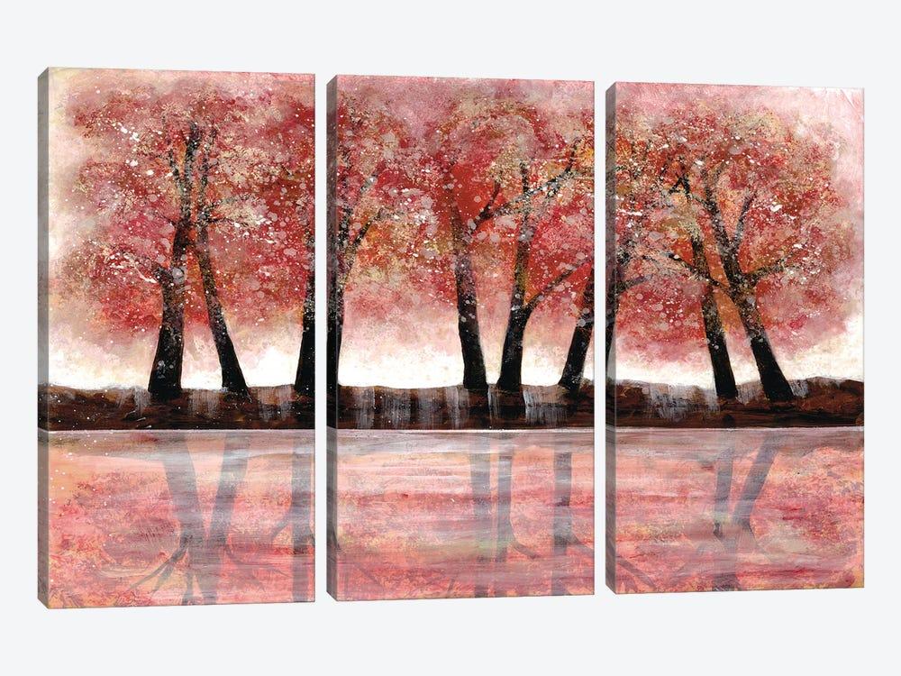 Forest Heat II by Doris Charest 3-piece Canvas Art Print