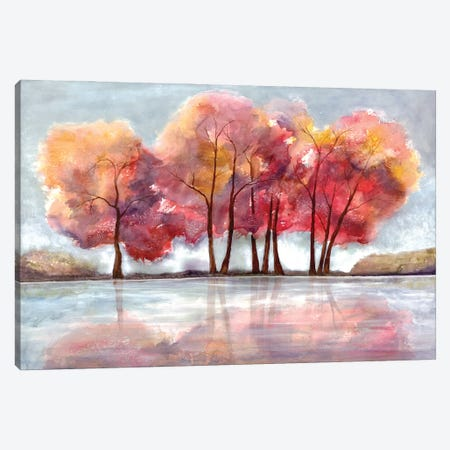 Lake Foliage Canvas Print #DRI32} by Doris Charest Canvas Art Print