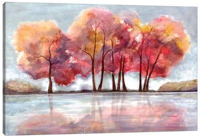 Lake Foliage Canvas Art Print