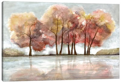Lakeside Forest Canvas Art Print