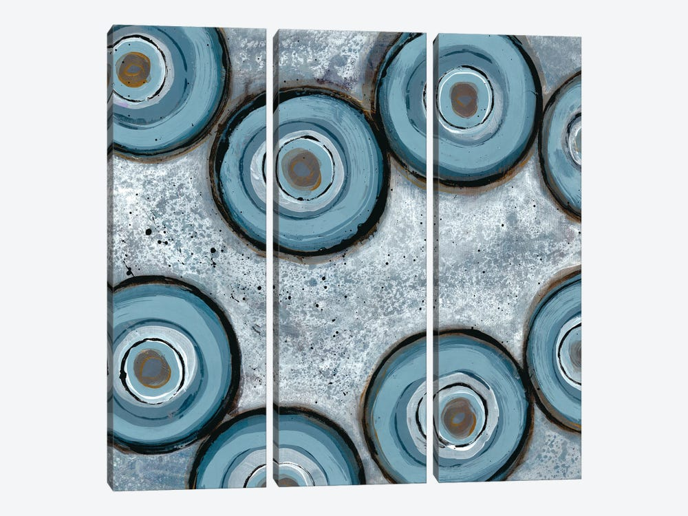 Tadpole Cluster I by Doris Charest 3-piece Canvas Wall Art