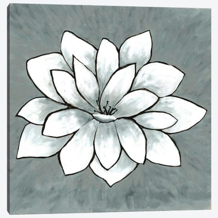White Lotus Canvas Print #DRI51} by Doris Charest Canvas Print