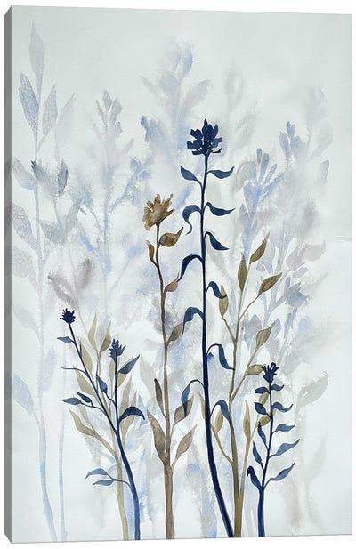 Blue Lit Growth I Canvas Art Print