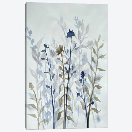 Blue Lit Growth II Canvas Print #DRI55} by Doris Charest Canvas Artwork