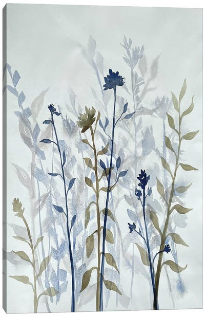 Blue Lit Growth II Canvas Art Print