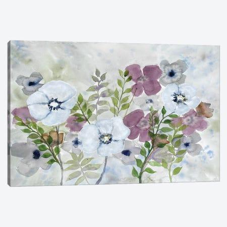 Floral Gossip I Canvas Print #DRI60} by Doris Charest Canvas Artwork