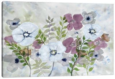 Floral Gossip I Canvas Art Print