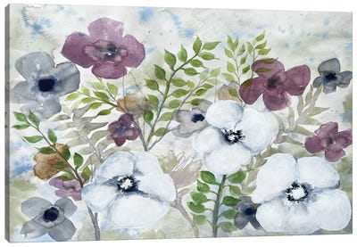 Floral Gossip II Canvas Art Print
