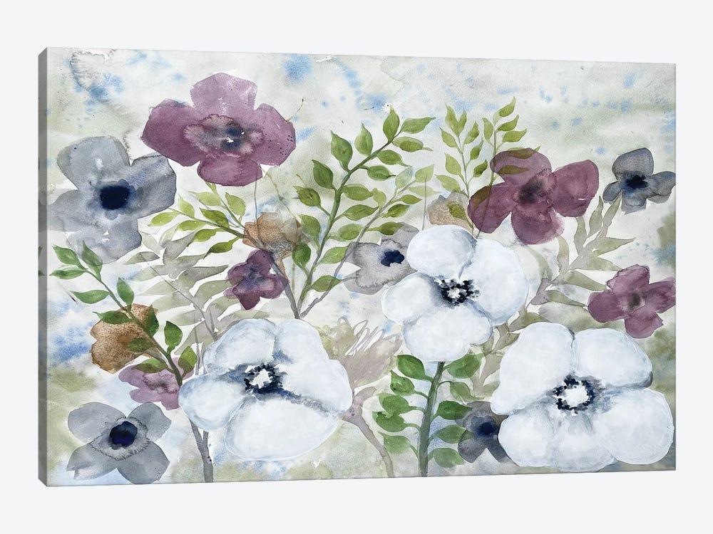 Floral Gossip II by Doris Charest 1-piece Canvas Art