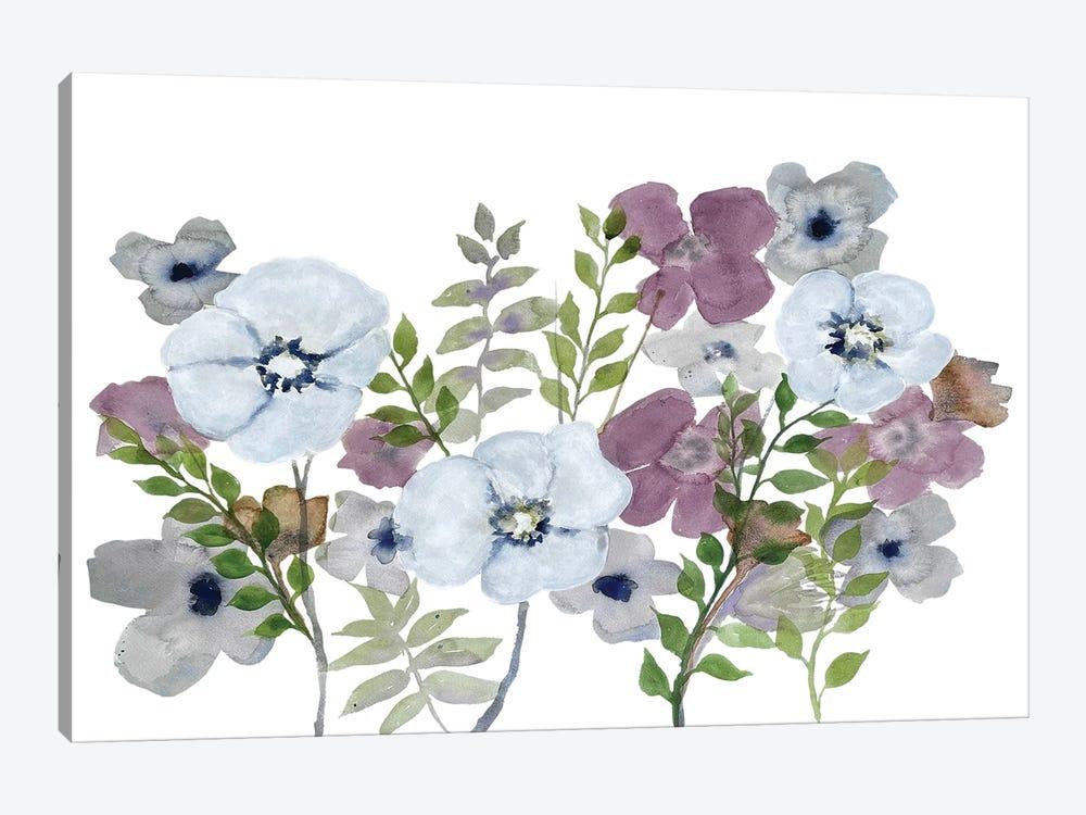Floral Gossip III by Doris Charest 1-piece Canvas Print