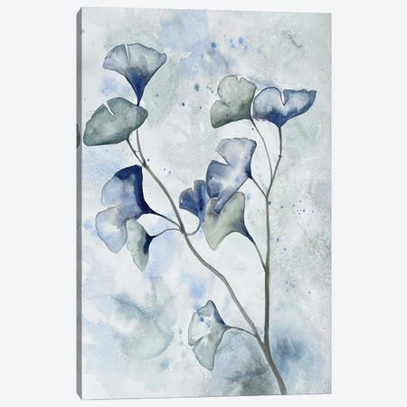 Moonlit Ginkos I Canvas Print #DRI68} by Doris Charest Canvas Wall Art