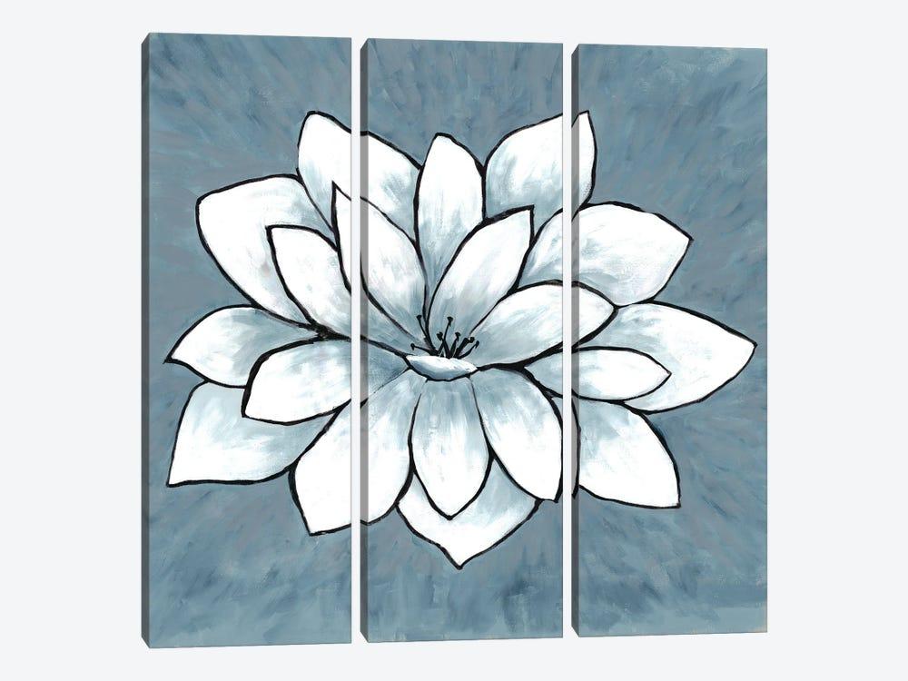 Blue Sprout I by Doris Charest 3-piece Canvas Print