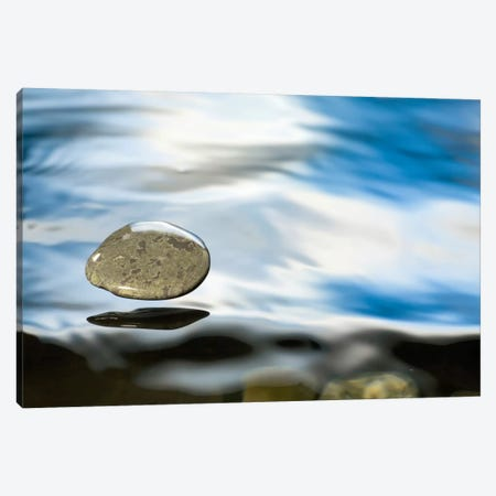 Skipping Stone Just About To Hit The Water's Surface Canvas Print #DRM14} by Michael Durham Canvas Art