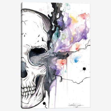 Smokin Skull Canvas Print #DRN18} by Jen Duran Canvas Artwork