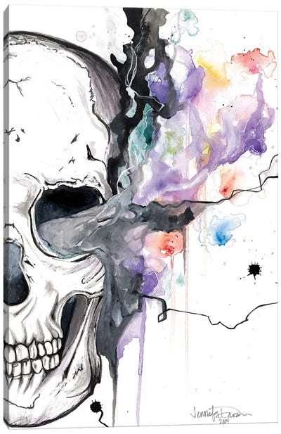 Smokin Skull Canvas Art Print