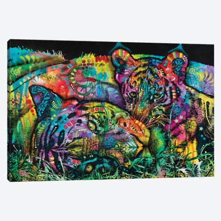 Mama Tiger and Cub Canvas Print #DRO1021} by Dean Russo Canvas Wall Art