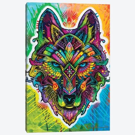 Wolf Shaman Canvas Print #DRO1022} by Dean Russo Canvas Artwork