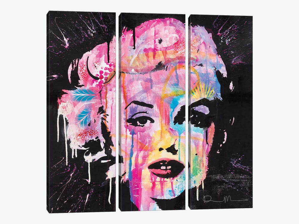 Marilyn Monroe by Dean Russo 3-piece Canvas Print