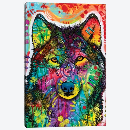 Wolf III Canvas Print #DRO1047} by Dean Russo Art Print