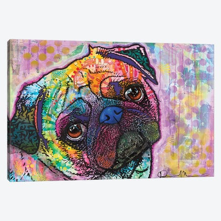 Pug Love Canvas Print #DRO106} by Dean Russo Canvas Print
