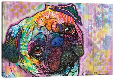 Pug Love Canvas Print #DRO106