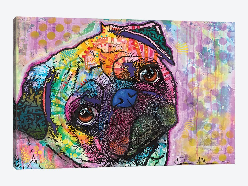 Pug Love by Dean Russo 1-piece Canvas Artwork