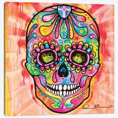 Sugar Skull - Day of the Dead Canvas Print #DRO111} by Dean Russo Canvas Print