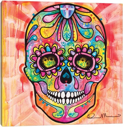 Sugar Skull - Day of the Dead Canvas Art Print