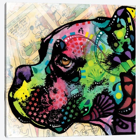 Profile Boxer Deco Canvas Print #DRO117} by Dean Russo Canvas Wall Art