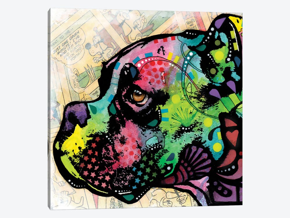 Profile Boxer Deco by Dean Russo 1-piece Canvas Art