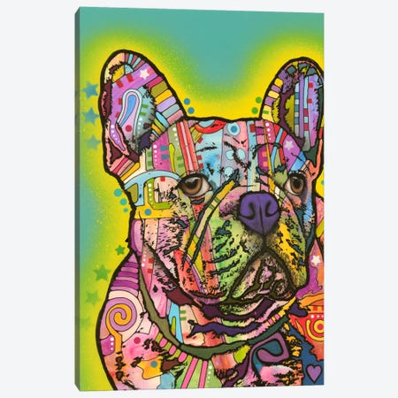 French Bulldog III Canvas Print #DRO119} by Dean Russo Canvas Print