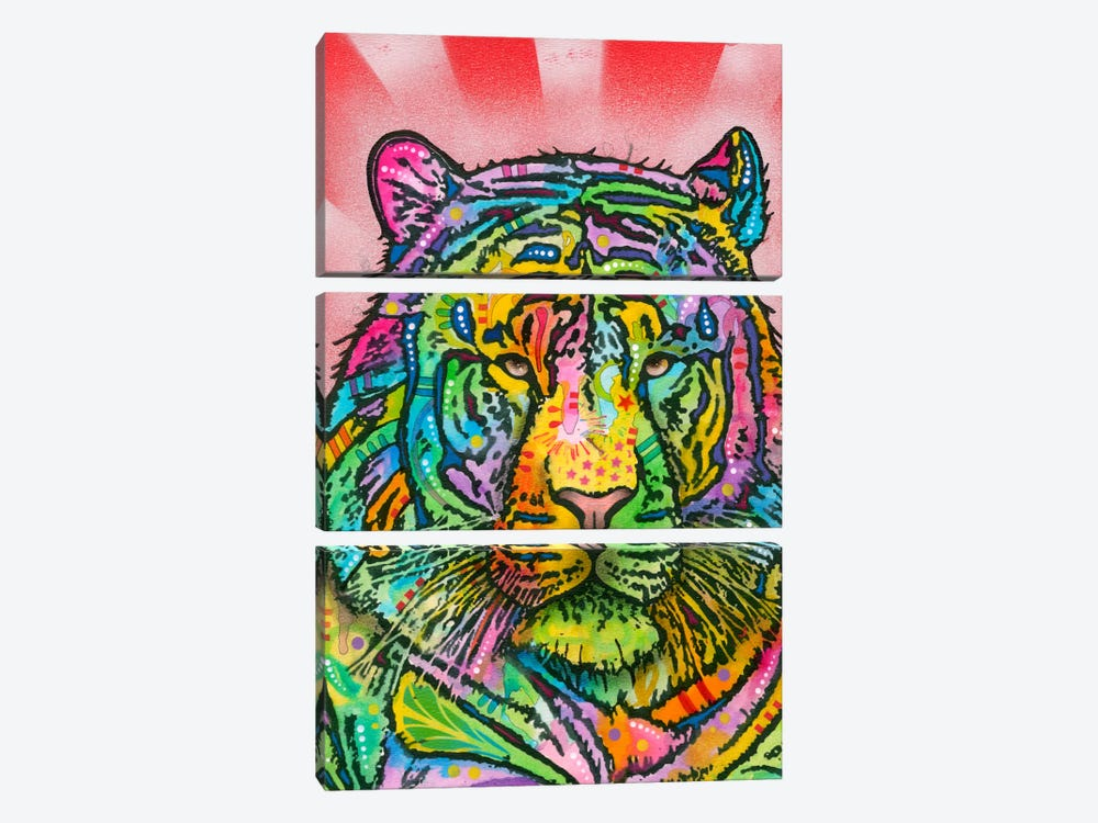 Tiger by Dean Russo 3-piece Canvas Artwork