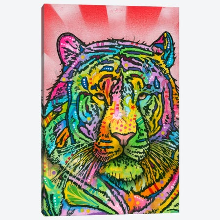 Tiger Canvas Print #DRO120} by Dean Russo Canvas Artwork